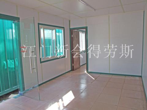 江门集装箱房屋,6米边玻璃门隔房,开两个窗